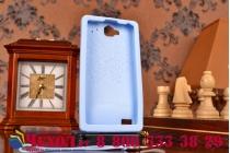 """Фирменная необычная уникальная полимерная мягкая задняя панель-чехол-накладка для Huawei Honor 3C  """"тематика Андроид в черничном шоколаде"""""""