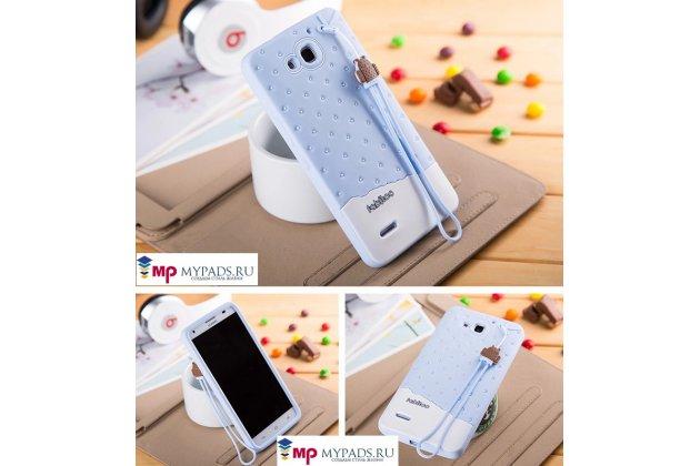 """Фирменная необычная уникальная полимерная мягкая задняя панель-чехол-накладка для Huawei Honor 3X  """"тематика Андроид в черничном шоколаде"""""""