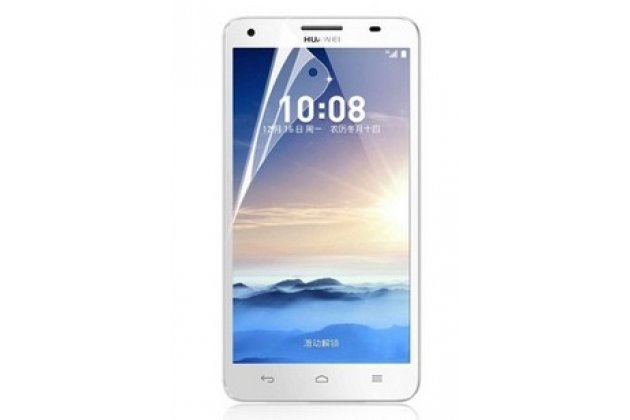 Фирменная оригинальная защитная пленка для телефона Huawei Honor 3X глянцевая