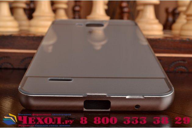 Фирменная металлическая задняя панель-крышка-накладка из тончайшего облегченного авиационного алюминия для Huawei Honor 3X серебристая