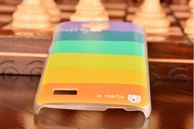 """Фирменная необычная уникальная пластиковая задняя панель-чехол-накладка для Huawei Honor 3C """"тематика Радуга"""""""