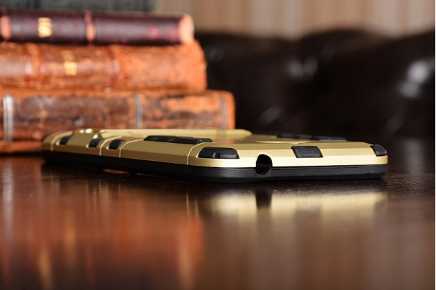 """Противоударный усиленный ударопрочный фирменный чехол-бампер-пенал для Huawei Honor 4C Pro (TIT-L01)/Enjoy 5/ Y6 Pro (TIT-AL00) 5.0""""  золотой"""