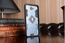 """Противоударный усиленный ударопрочный фирменный чехол-бампер-пенал для Huawei Honor 4C Pro (TIT-L01)/ Enjoy 5/ Y6 Pro (TIT-AL00) 5.0""""  черный"""