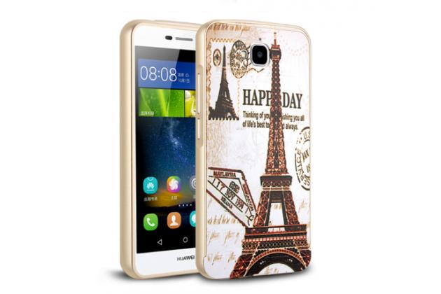 """Фирменная необычная металлическая задняя панель-чехол-накладка для Huawei Honor 4C Pro (TIT-L01) 5.0"""" с объёмным 3D рисунком  """"тематика Париж"""""""