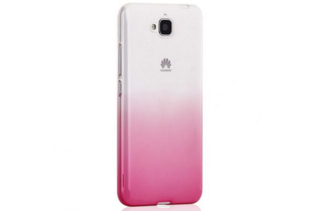 """Фирменная ультра-тонкая полимерная задняя панель-чехол-накладка из силикона для Huawei Honor 4C Pro (TIT-L01) 5.0"""" прозрачная с эффектом заходящего солнца"""