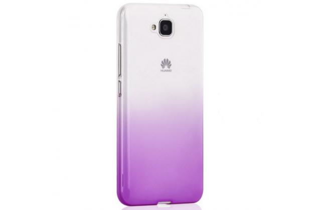 """Фирменная ультра-тонкая полимерная задняя панель-чехол-накладка из силикона для Huawei Honor 4C Pro (TIT-L01) 5.0""""  прозрачная  с эффектом грозы"""