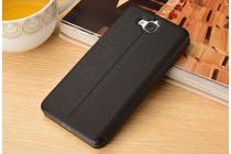 """Фирменный чехол-книжка для Huawei Honor 4C Pro (TIT-L01) 5.0"""" черный с окошком для входящих вызовов и свайпом водоотталкивающий"""