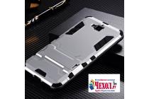 """Противоударный усиленный ударопрочный фирменный чехол-бампер-пенал для Huawei Honor 4C Pro (TIT-L01) 5.0""""  серебряный"""