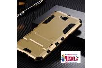 """Противоударный усиленный ударопрочный фирменный чехол-бампер-пенал для Huawei Honor 4C Pro (TIT-L01) 5.0""""  золотой"""