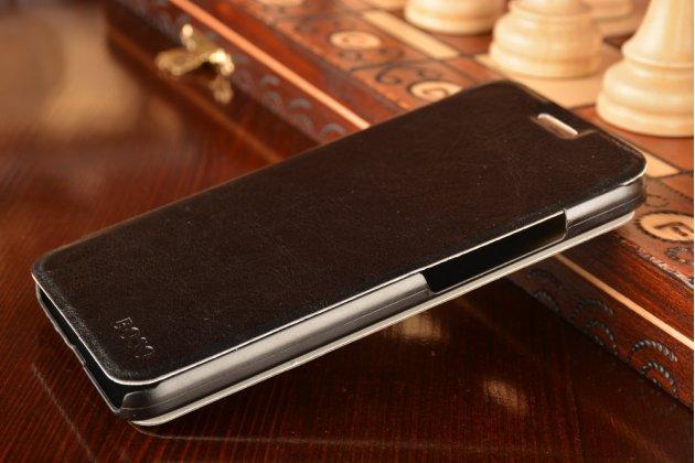"""Фирменный чехол-книжка  для Huawei Honor 4C Pro (TIT-L01) 5.0"""" из качественной водоотталкивающей импортной кожи на жёсткой металлической основе черного цвета"""