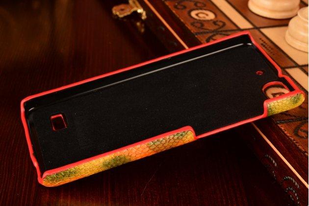 """Фирменная неповторимая экзотическая панель-крышка обтянутая кожей крокодила с фактурным тиснением для Huawei Honor 4c тематика """"Африканский Коктейль"""". Только в нашем магазине. Количество ограничено."""