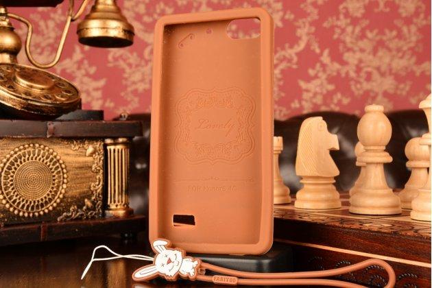 """Фирменная необычная уникальная полимерная мягкая задняя панель-чехол-накладка для Huawei Honor 4c  """"тематика Андроид в Темном  Шоколаде"""""""