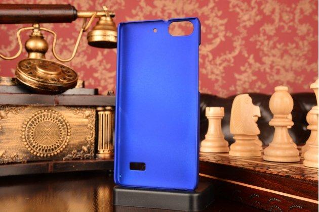 Фирменная ультра-тонкая пластиковая  задняя панель-чехол-накладка для Huawei Honor 4c синяя