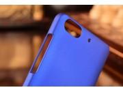 Фирменная ультра-тонкая пластиковая  задняя панель-чехол-накладка для Huawei Honor 4c синяя..
