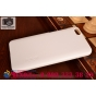 Фирменная задняя панель-крышка-накладка из тончайшего и прочного пластика для Huawei Honor 4X белая..