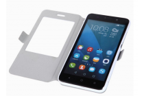 """Фирменный чехол-книжка с безумно красивым расписным рисунком """"Всё будет Хорошо"""" на Huawei Honor 4X с окошком для звонков"""