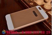 Фирменная металлическая задняя панель-крышка-накладка из тончайшего облегченного авиационного алюминия для Huawei Honor 4X золотая
