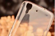 Фирменная ультра-тонкая полимерная из мягкого качественного силикона задняя панель-чехол-накладка для Huawei Honor 4A/Y6/ Y6 Dual sim белая