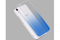 Фирменная из тонкого и лёгкого пластика задняя панель-чехол-накладка для Huawei Honor 4A/Y6/ Y6 Dual sim  прозрачная с эффектом дождя