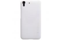 Фирменная задняя панель-крышка-накладка из тончайшего и прочного пластика для Huawei Honor 4A/Y6/ Y6 Dual sim белая