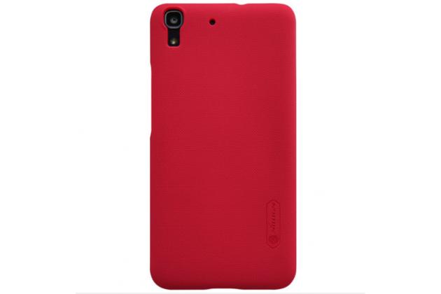 Фирменная задняя панель-крышка-накладка из тончайшего и прочного пластика для Huawei Honor 4A/Y6/ Y6 Dual sim красная
