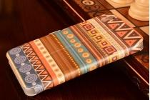 """Фирменный уникальный необычный чехол-книжка для Huawei Honor 4A/Y6/ Y6 Dual sim  """"тематика Эклектические Узоры"""""""