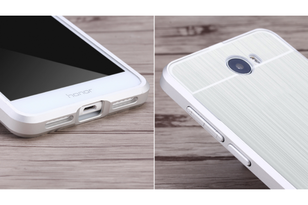 """Фирменная металлическая задняя панель-крышка-накладка из тончайшего облегченного авиационного алюминия для Huawei Honor 5 (Cun-TL00)""""  серебрянная"""