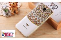 """Фирменная ультра-тонкая силиконовая задняя панель-крышка-накладка  для Huawei Honor 5 (Cun-TL00)""""  с 3D объёмным рисунком """"тематика Эклектические Узоры"""""""
