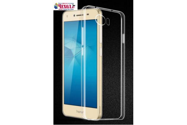 """Фирменная задняя панель-крышка-накладка из тончайшего и прочного пластика для Huawei Honor 5 (Cun-TL00)"""" прозрачная"""