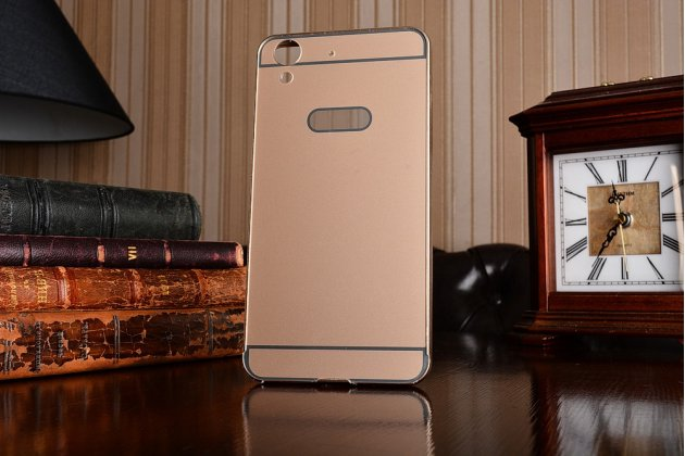 """Фирменная металлическая задняя панель-крышка-накладка из тончайшего облегченного авиационного алюминия для  Huawei Y6 2 (II)""""   золотая"""