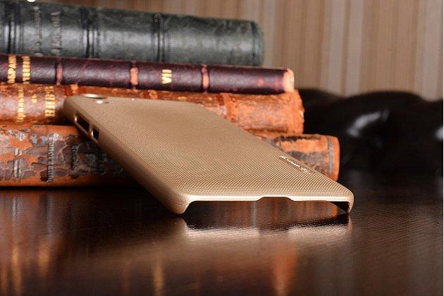 """Фирменная задняя панель-крышка-накладка из тончайшего и прочного пластика для Huawei Y6 2 (II)""""  золотая"""