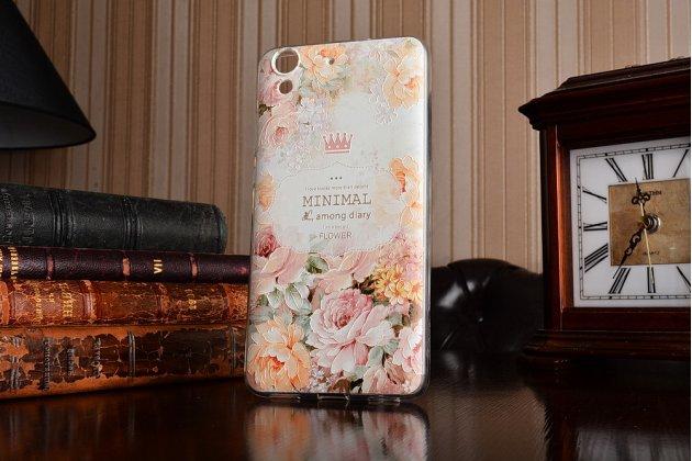 """Фирменная ультра-тонкая силиконовая задняя панель-крышка-накладка для Huawei Y6 2 (II)"""" с 3D объёмным рисунком """"тематика королевские Розы"""""""