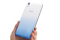 """Фирменная ультра-тонкая полимерная задняя панель-чехол-накладка из силикона для Huawei Y6 2 (II)"""" прозрачная с эффектом дождя"""