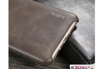 """Фирменная премиальная элитная крышка-накладка из тончайшего прочного пластика и качественной импортной кожи  для Huawei Honor 5C/7 Lite/GT3 5.2"""" """"Ретро под старину"""" коричневая"""