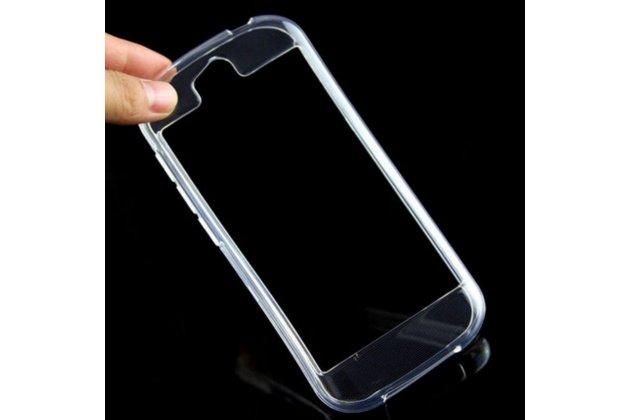 Фирменный оригинальный ультра-тонкий чехол-бампер из мягкого силикона для Yota YotaPhone 2 прозрачный