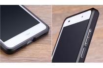 """Фирменная металлическая задняя панель-крышка-накладка из тончайшего облегченного авиационного алюминия для Huawei Honor 5C/7 Lite/GT3 5.2"""" черная"""