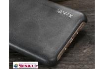 """Фирменная премиальная элитная крышка-накладка из тончайшего прочного пластика и качественной импортной кожи  для Huawei Honor 5C/7 Lite/GT3 5.2""""  """"Ретро под старину"""" черная"""