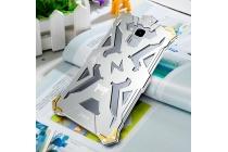 """Противоударный металлический чехол-бампер из цельного куска металла с усиленной защитой углов и необычным экстремальным дизайном  длям  Huawei Honor 5C/7 Lite/GT3 5.2"""" серебряного цвета"""
