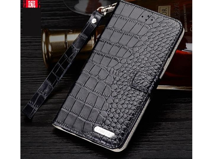 Фирменный роскошный эксклюзивный чехол-портмоне бизнес класса из натуральной кожи крокодила с визитницей и отд..