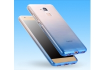 """Фирменная ультра-тонкая полимерная задняя панель-чехол-накладка из силикона для Huawei Honor 5C/7 Lite/GT3 5.2"""" прозрачная с эффектом дождя"""