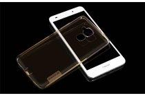 """Фирменная ультра-тонкая силиконовая задняя панель-чехол-накладка с защитой боковых кнопок для Huawei Honor 5C/7 Lite/GT3 5.2"""" золотая"""