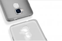"""Фирменная ультра-тонкая силиконовая задняя панель-чехол-накладка с защитой боковых кнопок для Huawei Honor 5C/7 Lite/GT3 5.2"""" серая"""