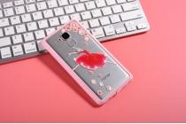 """Фирменная роскошная задняя панель-чехол-накладка из прозрачного качественного силикона с изящным дизайном для Huawei Honor 5C/7 Lite/GT3 5.2"""" декорированная кристаллами  тематика """"Балерина"""""""