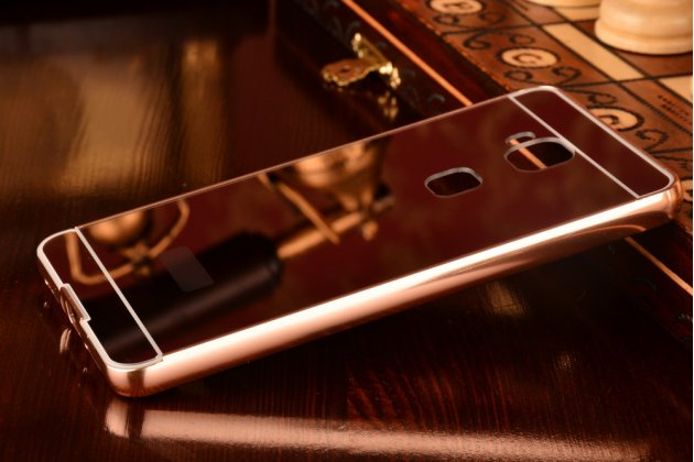 """Фирменная металлическая задняя панель-крышка-накладка из тончайшего облегченного авиационного алюминия для Huawei Honor 5X / 5X Play /  KIW-AL10 / Mate 7 Mini /GR5 5.5""""  розовая"""