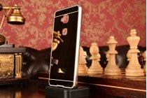 """Фирменная металлическая задняя панель-крышка-накладка из тончайшего облегченного авиационного алюминия для Huawei Honor 5X / 5X Play /  KIW-AL10 / Mate 7 Mini /GR5 5.5""""  черная"""