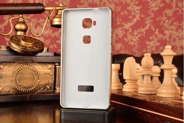 """Фирменная металлическая задняя панель-крышка-накладка из тончайшего облегченного авиационного алюминия для Huawei Honor 5X / 5X Play /  KIW-AL10 / Mate 7 Mini /GR5 5.5""""  серебристая"""