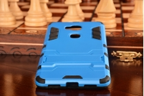 "Противоударный усиленный ударопрочный фирменный чехол-бампер-пенал для  Huawei Honor 5X / 5X Play /  KIW-AL10 / Mate 7 Mini /GR5 5.5""  синий"