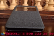 """Фирменный чехол-книжка для  Huawei Honor 5X / 5X Play /  KIW-AL10 / Mate 7 Mini /GR5 5.5"""" черный  с окошком для входящих вызовов водоотталкивающий"""