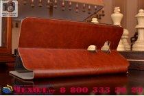 """Фирменный чехол-книжка из качественной водоотталкивающей импортной кожи на жёсткой металлической основе для  Huawei Honor 5X / 5X Play /  KIW-AL10 / Mate 7 Mini /GR5 5.5"""" коричневый"""