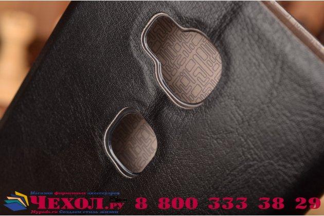 """Фирменный чехол-книжка из качественной водоотталкивающей импортной кожи на жёсткой металлической основе для  Huawei Honor 5X / 5X Play /  KIW-AL10 / Mate 7 Mini /GR5 5.5"""" черный"""